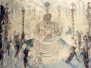 La festa dell'Essere Supremo 1987 olio su tela 204 x 288 cm