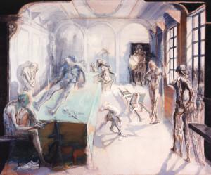 Robespierre ferito 1987 olio su tela 165 x 204 cm