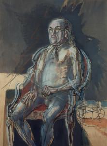 Benjamin Franklin 1987 olio su tavola 80x60 cm