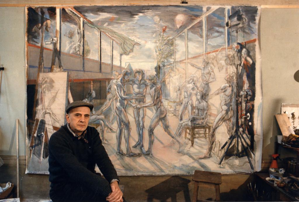 Piero Leddi con Il Giuramento della Pallacorda 1987