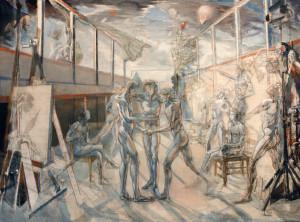 Il Giuramento della Pallacorda 1987 olio su tela 204x280 cm