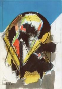 Energia, 1967, tempera su carta, 23x17 cm