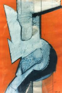 Struttura, 1968, tecnica mista su carta