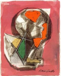 Sollecitazione, 1968, pastello su carta, 20x16 cm