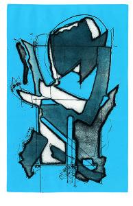 Testa n. 3 (trasformazione), 1969, acquaforte acquatinta a colori, 49x32 cm