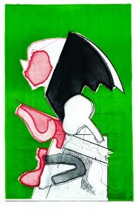 Testa n. 7 (compressa), 1969, acquaforte acquatinta a colori, 49x32 cm