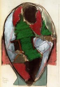Connessioni, 1969, pastello su carta, 28x20 cm