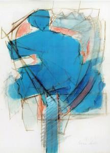 Raffreddore, 1969, acquarello su carta, 28x21 cm