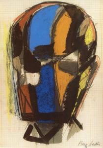Maschera, 1969, pastello su carta, 28x20 cm