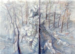 Monte Tordo, 1985, tempera su tela, 60x80 cm
