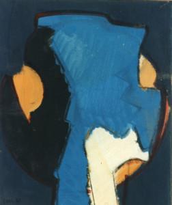 Testa, 1967, tempera su carta