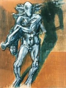 De natura et differentiis I, 1983, tecnica mista su legno, 25x19 cm