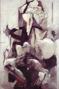 Maternità argento, 1967-73, olio su tela, 120x80 cm