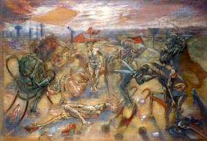Studio per la Festa sul Ticino, 1976-78, olio su tela