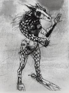 De natura et differentiis XI, 1983, tecnica mista su legno, 25x19,5 cm