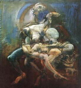 Sant'Anna con il vitello, 1974, olio su tela, 120x112,5 cm