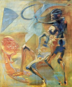 Compianto, 1973, olio su tela, 170,5x140,5 cm