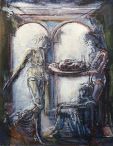 Erodiade, s.d., olio su tela, 50x40 cm