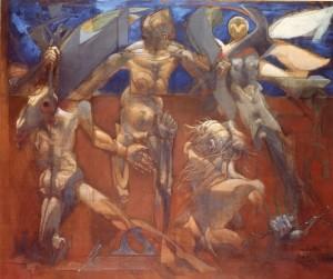 Alcioneo, 1974, olio su tela, 140x170 cm
