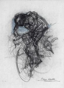 Fausto, 1973, matita e acquarello su carta, 56x44 cm