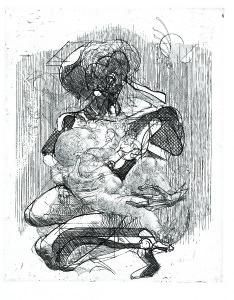 Madre, 1975, acquaforte, 40x32 cm