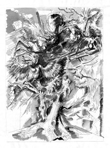 Albero con arpie, 1996, inchiostro su carta