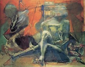 Milano 1976, 1976, olio su tela, 80x100 cm