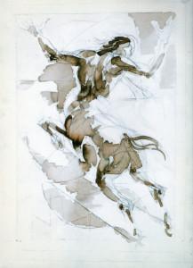 Centauro, 1996, inchiostro su carta, 35x25 cm