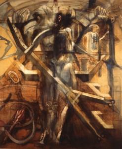 Tram, 1976, olio su tela, 108x100 cm