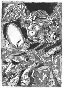 Arpia, 1997, acquaforte acquatinta, 30x21 cm