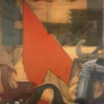 La bottega del falegname, 1976, olio su tela, 100x80 cm