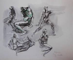 Magrassi, 2007, inchiostro su carta, 33x41 cm