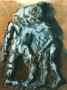 De natura et differentiis III, 1983, tecnica mista su legno, 25x19 cm