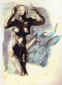 Pastora, 2000, matita e acquarello su carta, 38x27 cm
