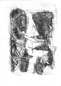 Forma del dialogo, 1970, acquaforte, 25x18 cm