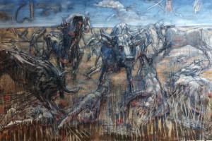 Marengo, 1998, tempera su tela, 130x200 cm