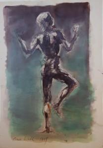 Sorpresa, 1999, tecnica mista su carta, 38x27 cm