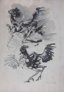 Starnazza, s.d., matita e inchiostro su carta, 35x24 cm