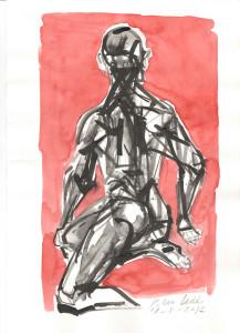 Lo splendore del Sole d'agosto, 2012, inchiostri su carta, 29,5x21 cm