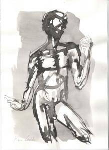 Figura, s.d., inchiostro su carta, 29,5x21