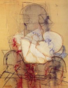 Maternità Cicoria, 1970, olio su tela, 100x80 cm