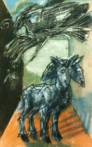 De natura et differentiis VI, 1983, tecnica mista su legno, 30x19,5 cm