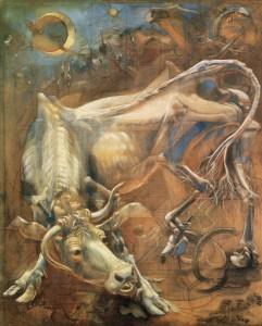 Grande vacca, 1973, olio su tela, 170x140 cm