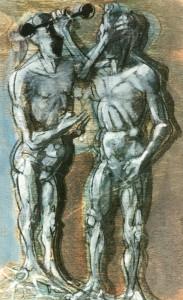 De natura et differentiis VII, 1983, tecnica mista su legno, 31x19 cm