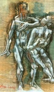 De natura et differentiis VIII, 1983, tecnica mista su legno, 32x19 cm